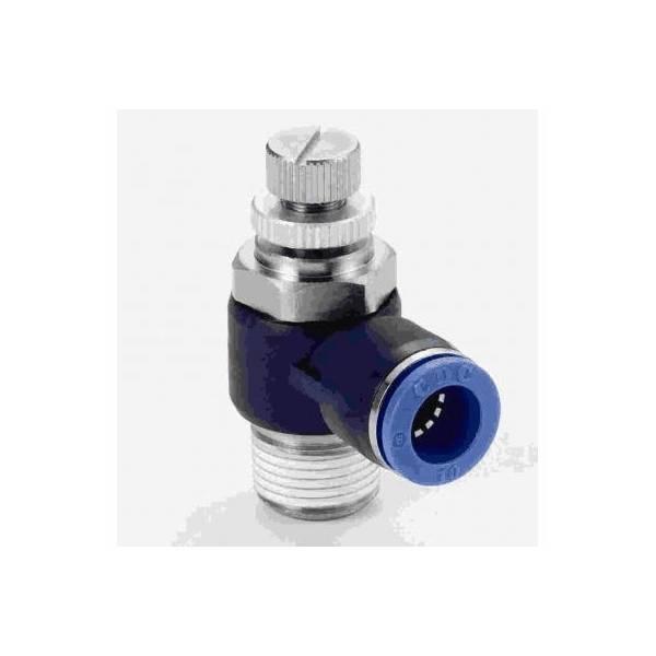 Aquario Kątowy zaworek dławiący 1/8 cala - 6mm