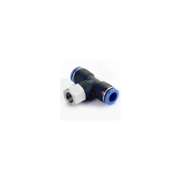 Złączka trójnik 6mm - 1/8 cala (zewn)