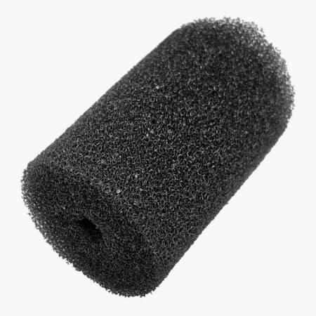 Gąbka okrągła 10/5cm - Czarna grube pory